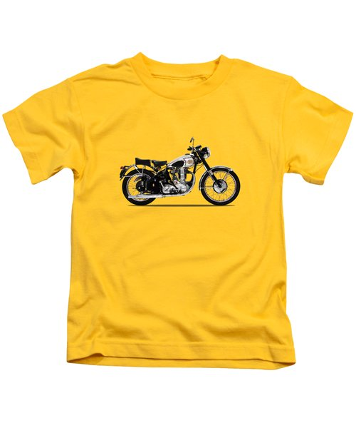 Bsa Gold Star 52 Kids T-Shirt by Mark Rogan