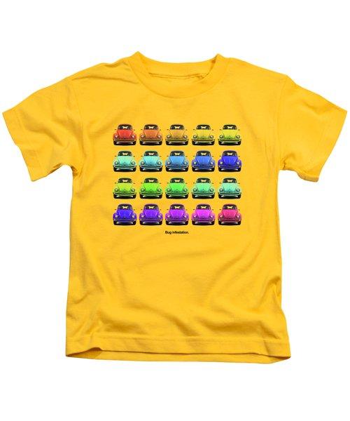 Bug Infestation. Kids T-Shirt by Mark Rogan