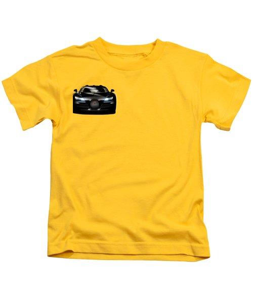 Bugatti Veyron Kids T-Shirt by Mark Rogan