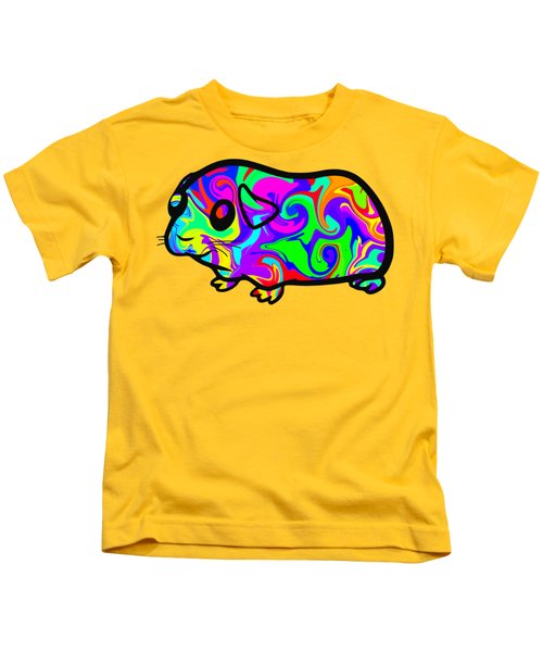 Colorful Guinea Pig Kids T-Shirt by Chris Butler