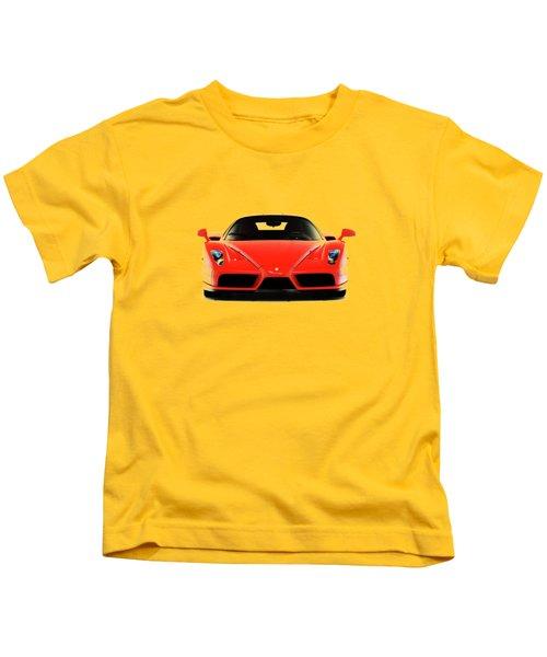 Ferrari Enzo Ferrari Kids T-Shirt by Mark Rogan