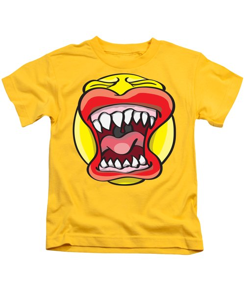 Hungry Pacman Kids T-Shirt by Jorgo Photography - Wall Art Gallery