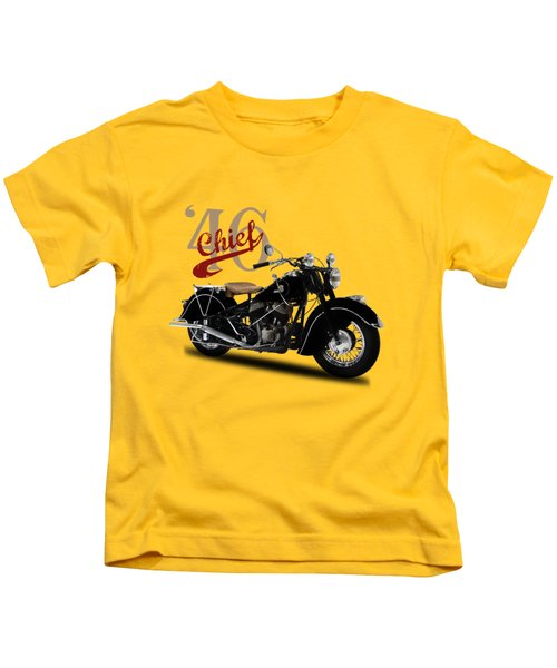 Indian Chief 1946 Kids T-Shirt by Mark Rogan
