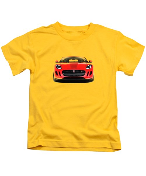 Jaguar F Type Kids T-Shirt by Mark Rogan