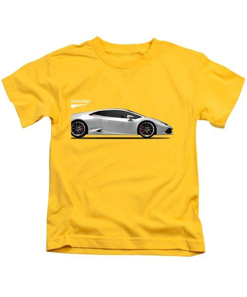 Lamborghini Huracan Kids T-Shirt by Mark Rogan