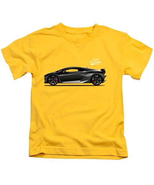 Lamborghini Sesto Elemento Kids T-Shirt by Mark Rogan