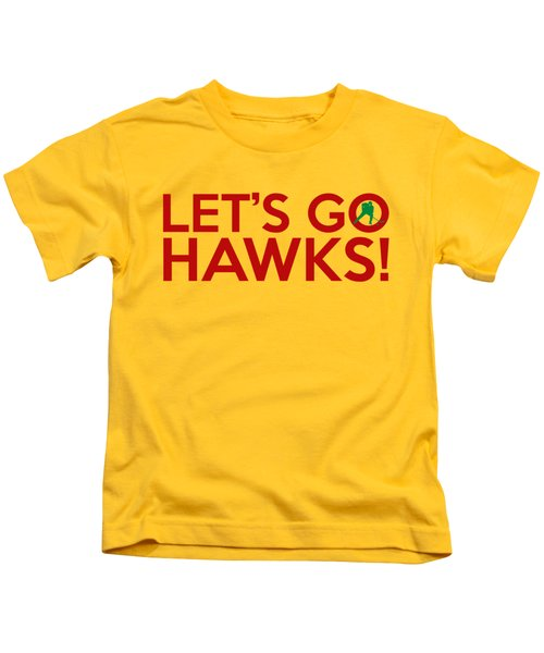 Let's Go Hawks Kids T-Shirt by Florian Rodarte