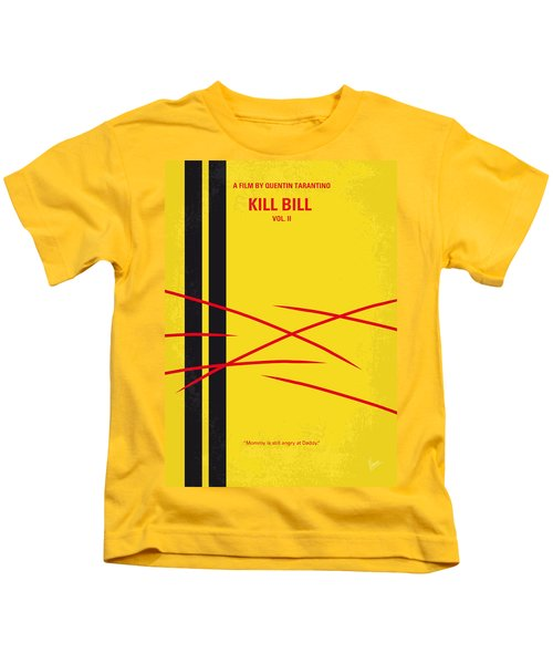 No049 My Kill Bill-part2 Minimal Movie Poster Kids T-Shirt by Chungkong Art