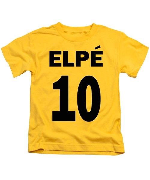 Pele 10 Kids T-Shirt by Charlie Ross