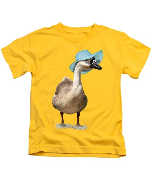 Summer Goose Kids T-Shirt by Gravityx9  Designs