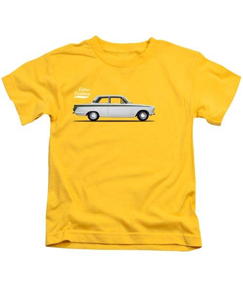 The Lotus Cortina Kids T-Shirt by Mark Rogan