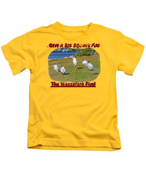 The Woodstork Five Kids T-Shirt by John M Bailey