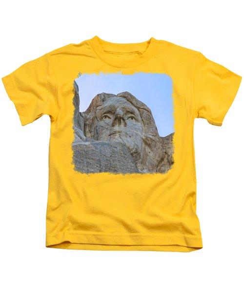 Thomas Jefferson 3 Kids T-Shirt by John M Bailey