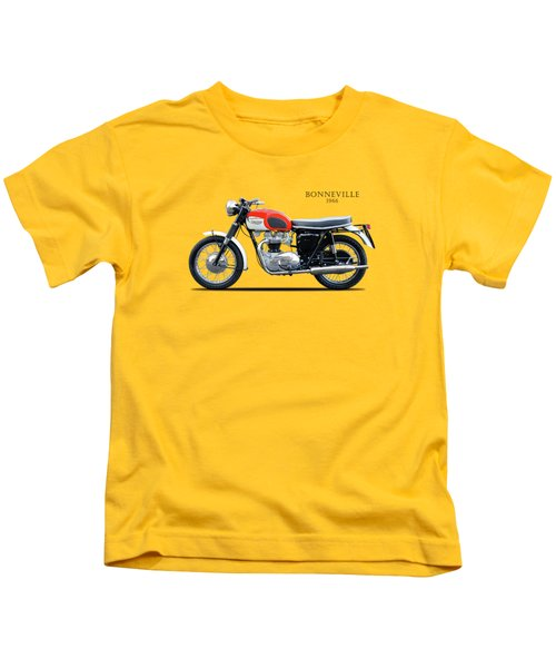 Triumph Bonneville 1966 Kids T-Shirt by Mark Rogan