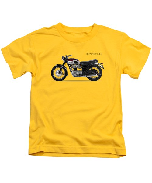 Triumph Bonneville 1968 Kids T-Shirt by Mark Rogan