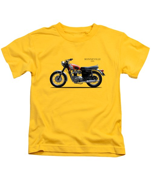 Triumph Bonneville 1969 Kids T-Shirt by Mark Rogan
