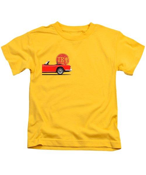 Triumph Tr4 Kids T-Shirt by Mark Rogan