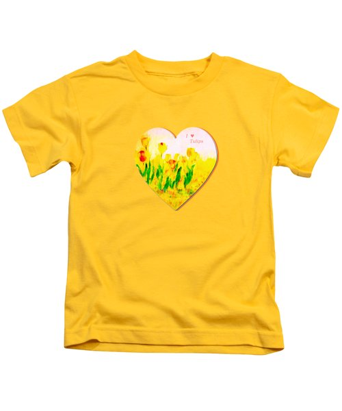 Tulips In Springtime-floral Painting By V.kelly Kids T-Shirt by Valerie Anne Kelly
