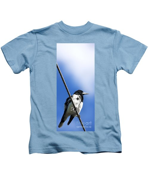 Magpie Up High Kids T-Shirt by Jorgo Photography - Wall Art Gallery
