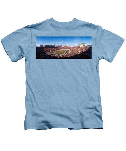 Spectators Watching A Football Match Kids T-Shirt by Panoramic Images