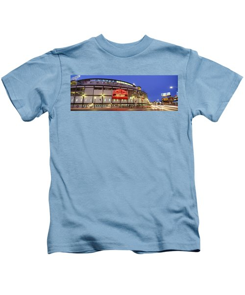 Usa, Illinois, Chicago, Cubs, Baseball Kids T-Shirt by Panoramic Images