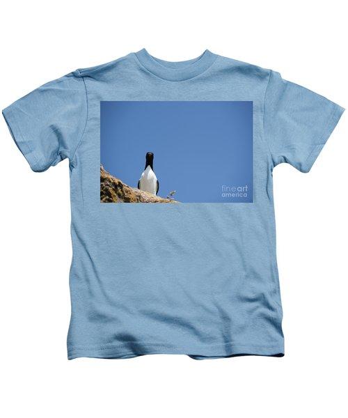 A Curious Bird Kids T-Shirt by Anne Gilbert