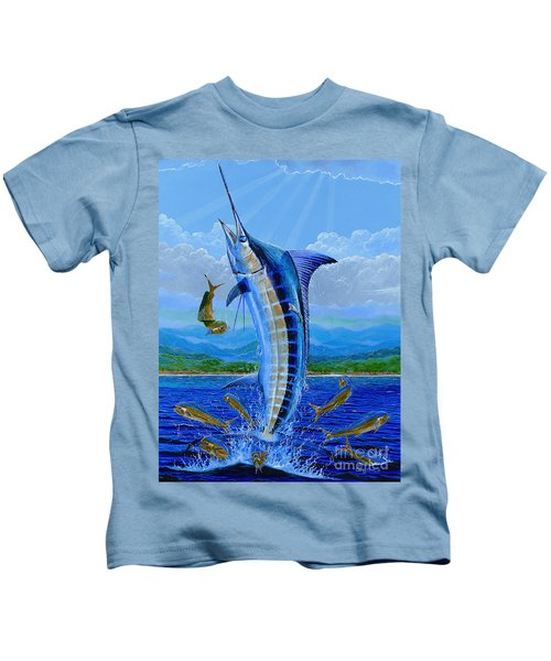 Caribbean Blue Off0041 Kids T-Shirt by Carey Chen