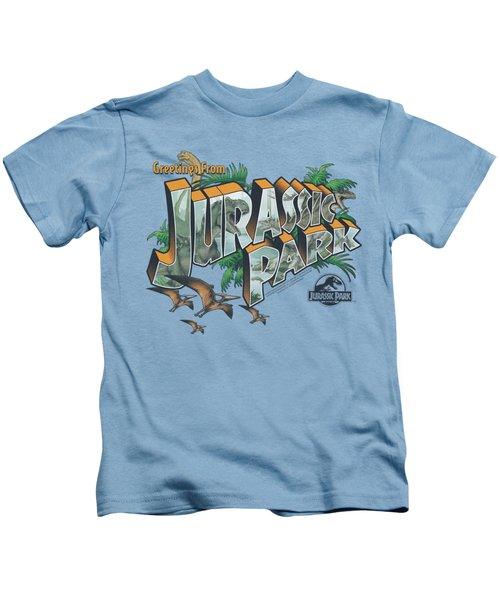 Jurassic Park - Greetings From Jp Kids T-Shirt by Brand A