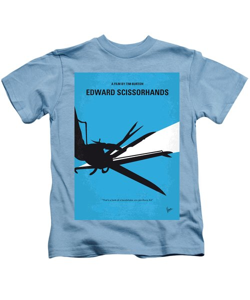 No260 My Scissorhands Minimal Movie Poster Kids T-Shirt by Chungkong Art