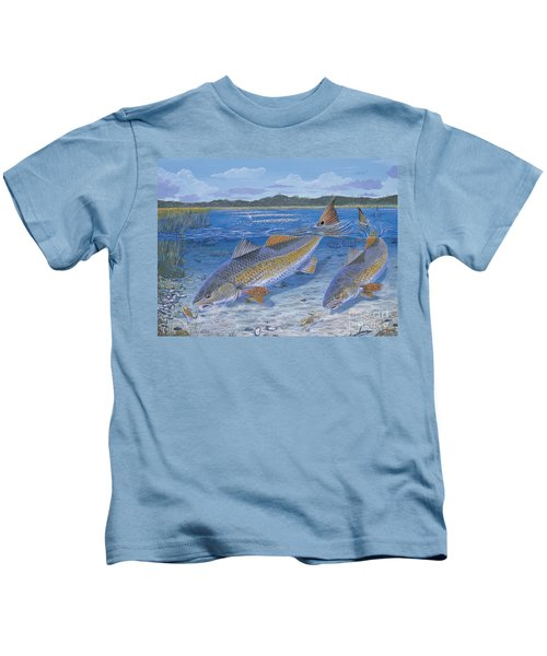 Red Creek In0010 Kids T-Shirt by Carey Chen