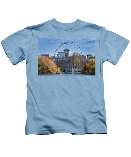 Eyeing The View Kids T-Shirt by Joan Carroll