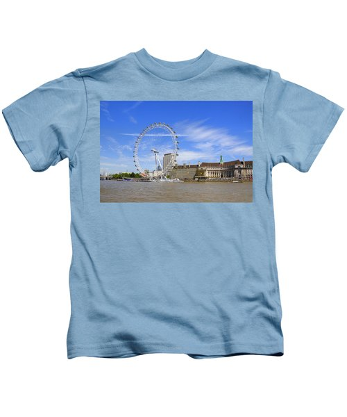 London Eye Kids T-Shirt by Joana Kruse