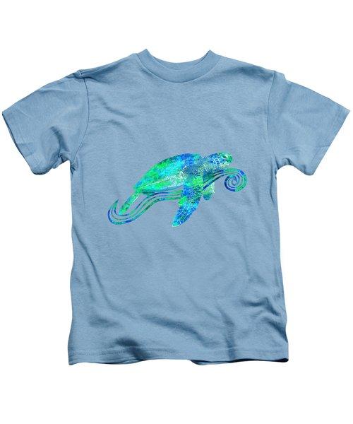 Sea Turtle Graphic Kids T-Shirt by Chris MacDonald