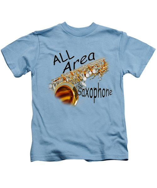 All Area Saxophone Kids T-Shirt by M K  Miller