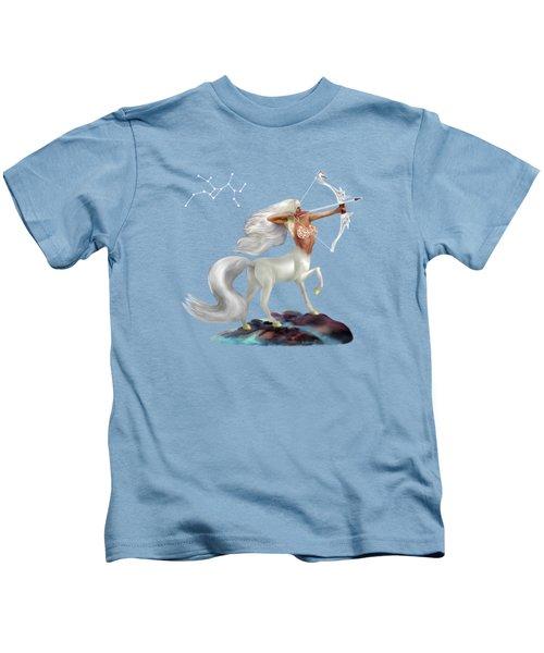 Mystical Sagittarius Kids T-Shirt by Glenn Holbrook