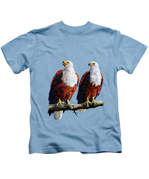 Friends Hanging Out Kids T-Shirt by Anthony Mwangi
