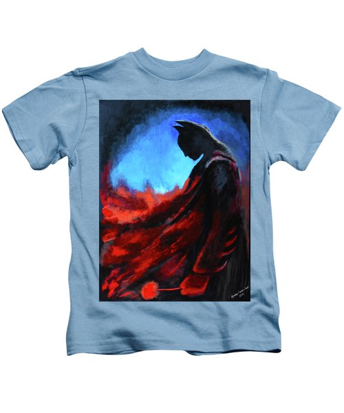 Batman's Mercy Kids T-Shirt by Brandy Nicole Neal