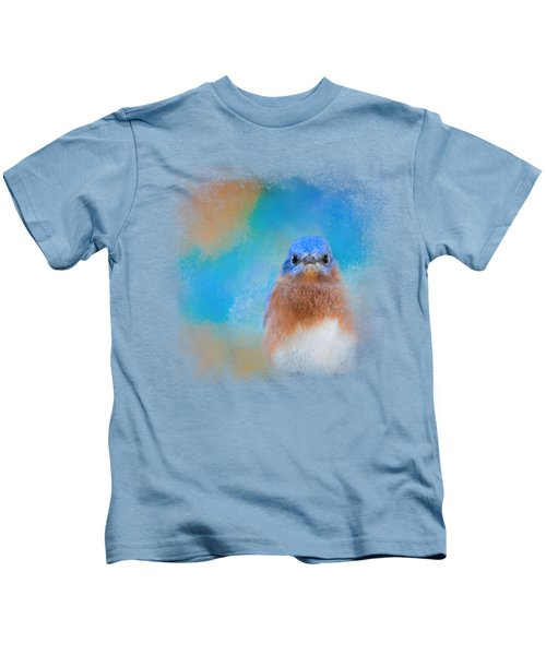 Blue Is Beautiful Kids T-Shirt by Jai Johnson