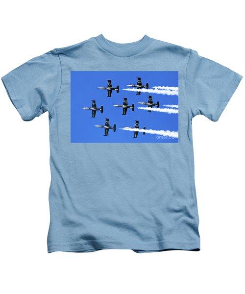 Breitling Air Display Team L-39 Albatross Kids T-Shirt by Nir Ben-Yosef