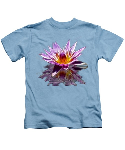 Glowing Lilly Flower Kids T-Shirt by Shane Bechler