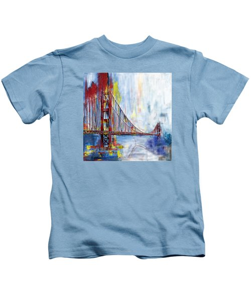 Golden Gate Bridge 218 1  Kids T-Shirt by Mawra Tahreem