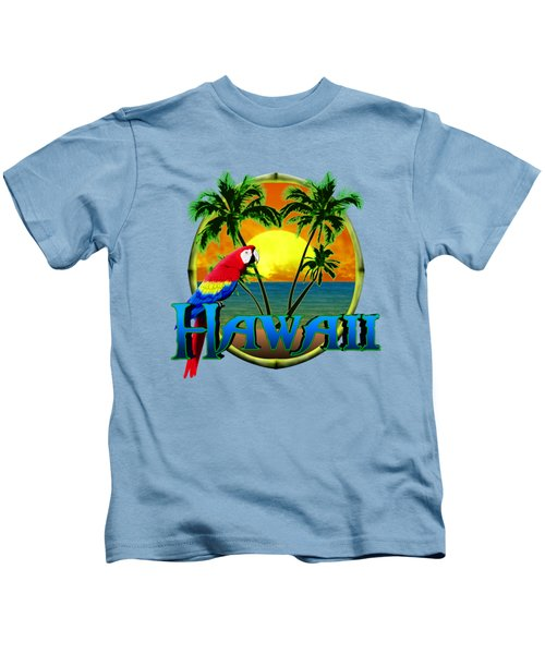 Hawaii Parrot Kids T-Shirt by Chris MacDonald
