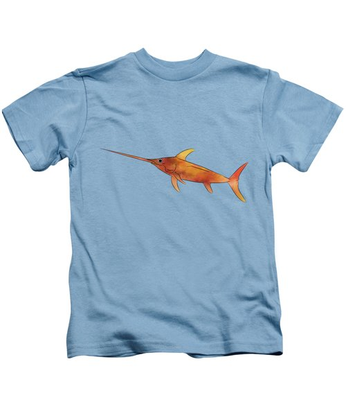 Kessonius V1 - Amazing Swordfish Kids T-Shirt by Cersatti