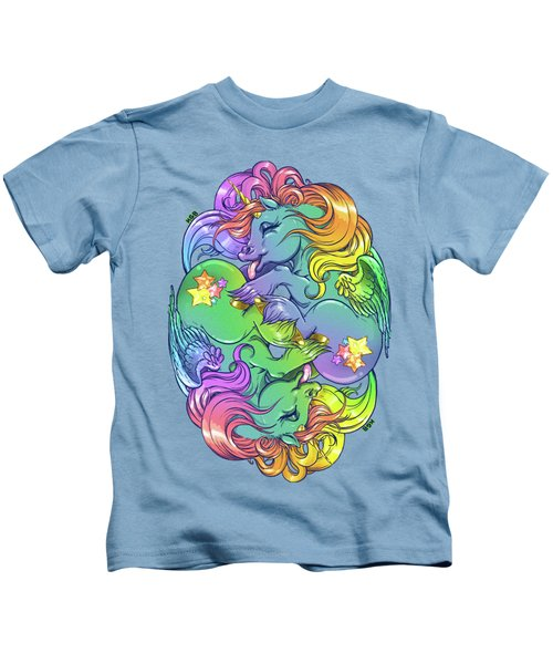 Magial Lesbian Ponies Kids T-Shirt by Kelsey Bigelow