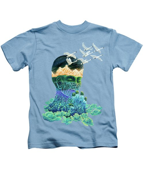 Meditation Kids T-Shirt by Ruta Dumalakaite