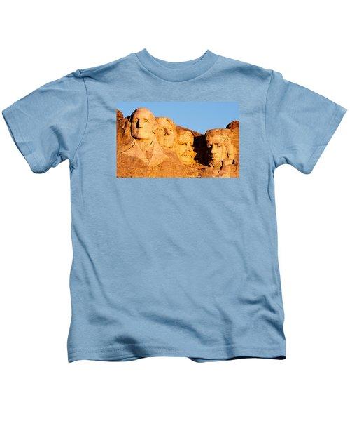 Mount Rushmore Kids T-Shirt by Todd Klassy