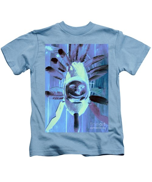 National Museum Of The American Indian 9 Kids T-Shirt by Randall Weidner