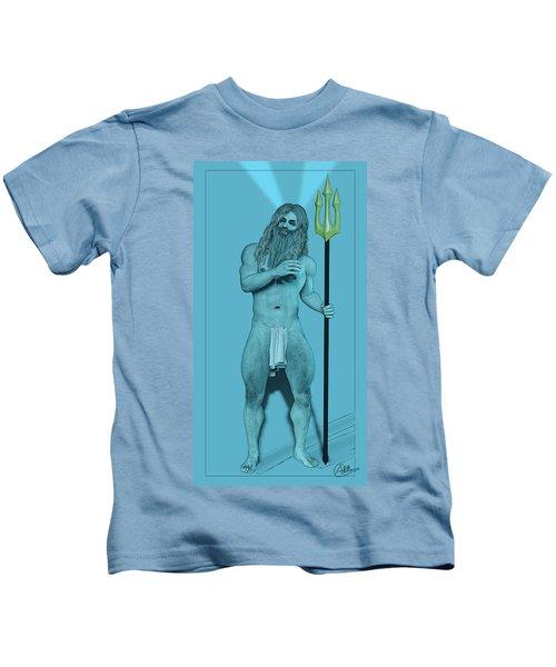 Blue Neptune Kids T-Shirt by Quim Abella