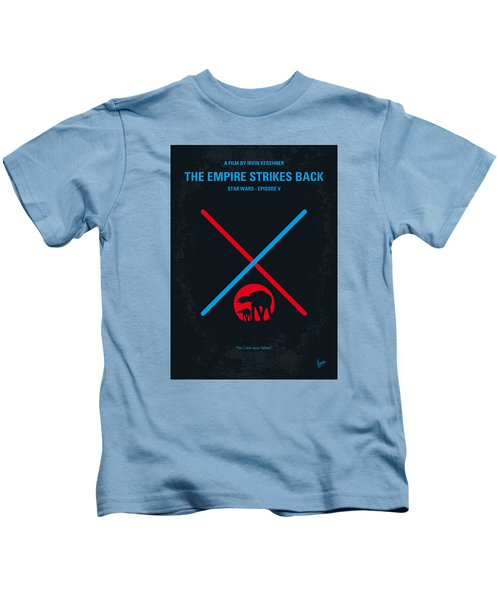 No155 My Star Wars Episode V The Empire Strikes Back Minimal Movie Poster Kids T-Shirt by Chungkong Art