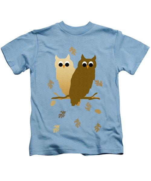 Owls Pattern Art Kids T-Shirt by Christina Rollo